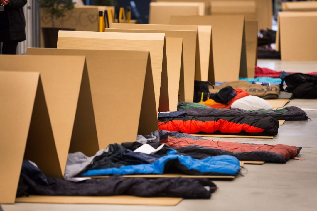 CEO Sleepout Carboard Makeshift Shelters
